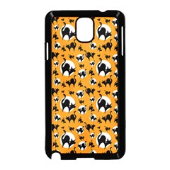 Pattern Halloween Black Cat Hissing Samsung Galaxy Note 3 Neo Hardshell Case (black) by iCreate
