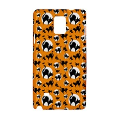 Pattern Halloween Black Cat Hissing Samsung Galaxy Note 4 Hardshell Case by iCreate