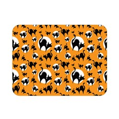 Pattern Halloween Black Cat Hissing Double Sided Flano Blanket (mini)  by iCreate
