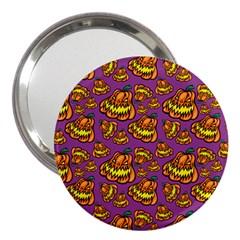 Halloween Colorful Jackolanterns  3  Handbag Mirrors by iCreate