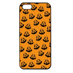 Halloween Jackolantern Pumpkins Icreate Apple Iphone 5 Seamless Case (black) by iCreate
