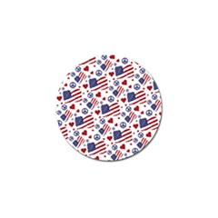 Peace Love America Icreate Golf Ball Marker (10 Pack)