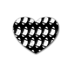 Footballs Icreate Heart Coaster (4 Pack)  by iCreate