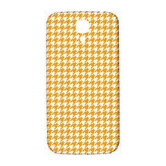 Friendly Houndstooth Pattern, Orange Samsung Galaxy S4 I9500/i9505  Hardshell Back Case by MoreColorsinLife