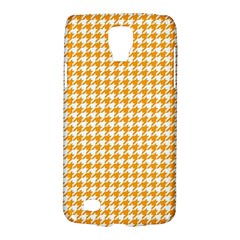 Friendly Houndstooth Pattern, Orange Galaxy S4 Active by MoreColorsinLife