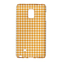 Friendly Houndstooth Pattern, Orange Galaxy Note Edge by MoreColorsinLife