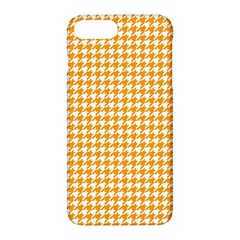 Friendly Houndstooth Pattern, Orange Apple Iphone 7 Plus Hardshell Case by MoreColorsinLife