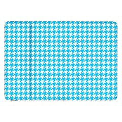 Friendly Houndstooth Pattern,aqua Samsung Galaxy Tab 8 9  P7300 Flip Case by MoreColorsinLife