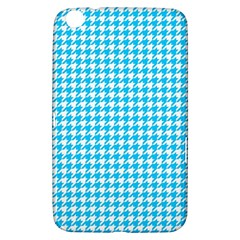 Friendly Houndstooth Pattern,aqua Samsung Galaxy Tab 3 (8 ) T3100 Hardshell Case  by MoreColorsinLife