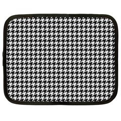 Friendly Houndstooth Pattern,black And White Netbook Case (large) by MoreColorsinLife