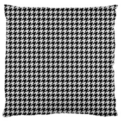 Friendly Houndstooth Pattern,black And White Standard Flano Cushion Case (two Sides) by MoreColorsinLife