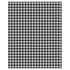 Friendly Houndstooth Pattern,black And White Drawstring Bag (small) by MoreColorsinLife