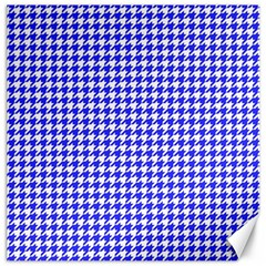 Friendly Houndstooth Pattern,blue Canvas 16  X 16   by MoreColorsinLife