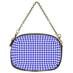 Friendly Houndstooth Pattern,blue Chain Purses (one Side)  by MoreColorsinLife