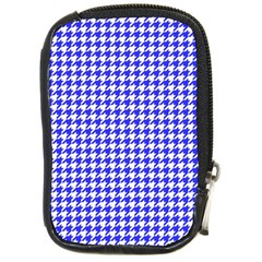 Friendly Houndstooth Pattern,blue Compact Camera Cases by MoreColorsinLife