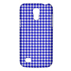 Friendly Houndstooth Pattern,blue Galaxy S4 Mini by MoreColorsinLife