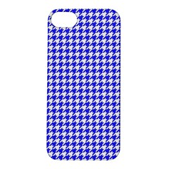 Friendly Houndstooth Pattern,blue Apple Iphone 5s/ Se Hardshell Case by MoreColorsinLife