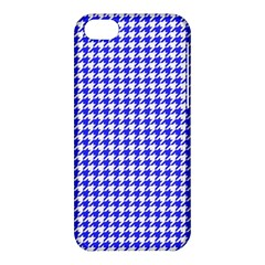Friendly Houndstooth Pattern,blue Apple Iphone 5c Hardshell Case by MoreColorsinLife