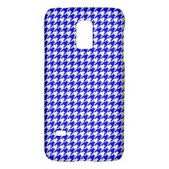 Friendly Houndstooth Pattern,blue Galaxy S5 Mini by MoreColorsinLife