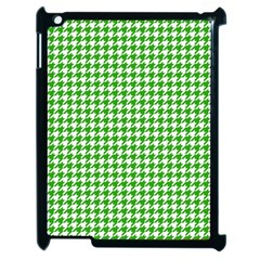 Friendly Houndstooth Pattern,green Apple Ipad 2 Case (black) by MoreColorsinLife