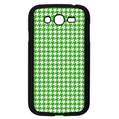 Friendly Houndstooth Pattern,green Samsung Galaxy Grand Duos I9082 Case (black) by MoreColorsinLife