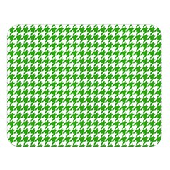 Friendly Houndstooth Pattern,green Double Sided Flano Blanket (large)  by MoreColorsinLife