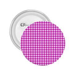 Friendly Houndstooth Pattern,pink 2 25  Buttons by MoreColorsinLife