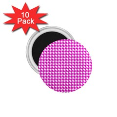 Friendly Houndstooth Pattern,pink 1 75  Magnets (10 Pack)  by MoreColorsinLife