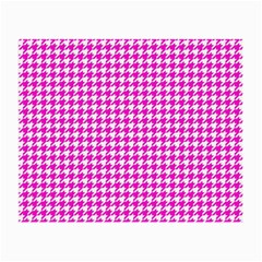 Friendly Houndstooth Pattern,pink Small Glasses Cloth (2 Side)