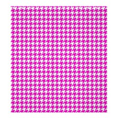 Friendly Houndstooth Pattern,pink Shower Curtain 66  X 72  (large)  by MoreColorsinLife
