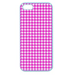 Friendly Houndstooth Pattern,pink Apple Seamless Iphone 5 Case (color) by MoreColorsinLife