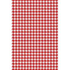 Friendly Houndstooth Pattern,red 5 5  X 8 5  Notebooks by MoreColorsinLife