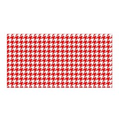 Friendly Houndstooth Pattern,red Satin Wrap by MoreColorsinLife