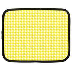 Friendly Houndstooth Pattern,yellow Netbook Case (large) by MoreColorsinLife