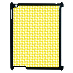 Friendly Houndstooth Pattern,yellow Apple Ipad 2 Case (black) by MoreColorsinLife
