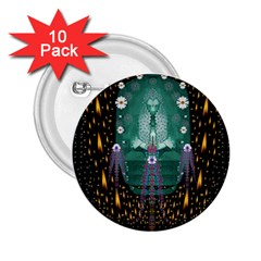 Temple Of Yoga In Light Peace And Human Namaste Style 2 25  Buttons (10 Pack)  by pepitasart