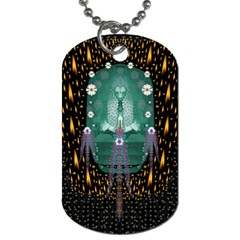 Temple Of Yoga In Light Peace And Human Namaste Style Dog Tag (two Sides) by pepitasart