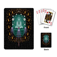 Temple Of Yoga In Light Peace And Human Namaste Style Playing Card by pepitasart