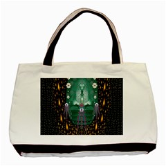 Temple Of Yoga In Light Peace And Human Namaste Style Basic Tote Bag by pepitasart