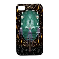 Temple Of Yoga In Light Peace And Human Namaste Style Apple Iphone 4/4s Hardshell Case With Stand by pepitasart