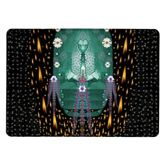 Temple Of Yoga In Light Peace And Human Namaste Style Samsung Galaxy Tab 10 1  P7500 Flip Case by pepitasart