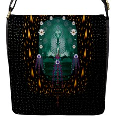 Temple Of Yoga In Light Peace And Human Namaste Style Flap Messenger Bag (s) by pepitasart