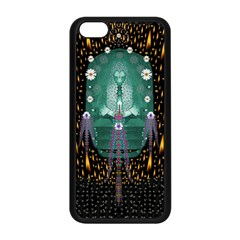Temple Of Yoga In Light Peace And Human Namaste Style Apple Iphone 5c Seamless Case (black) by pepitasart