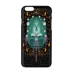 Temple Of Yoga In Light Peace And Human Namaste Style Apple Iphone 6/6s Black Enamel Case by pepitasart