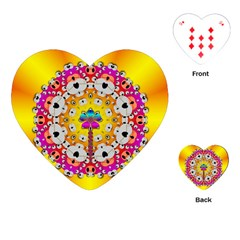 Fantasy Flower In Tones Playing Cards (heart)  by pepitasart
