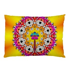 Fantasy Flower In Tones Pillow Case by pepitasart