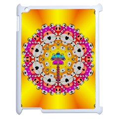 Fantasy Flower In Tones Apple Ipad 2 Case (white) by pepitasart