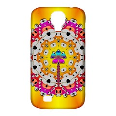 Fantasy Flower In Tones Samsung Galaxy S4 Classic Hardshell Case (pc+silicone) by pepitasart