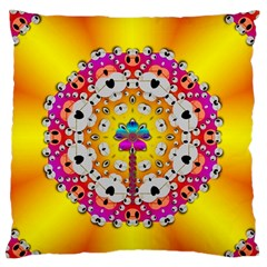 Fantasy Flower In Tones Standard Flano Cushion Case (one Side) by pepitasart