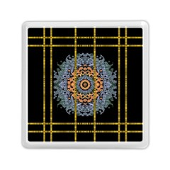 Blue Bloom Golden And Metal Memory Card Reader (square)  by pepitasart